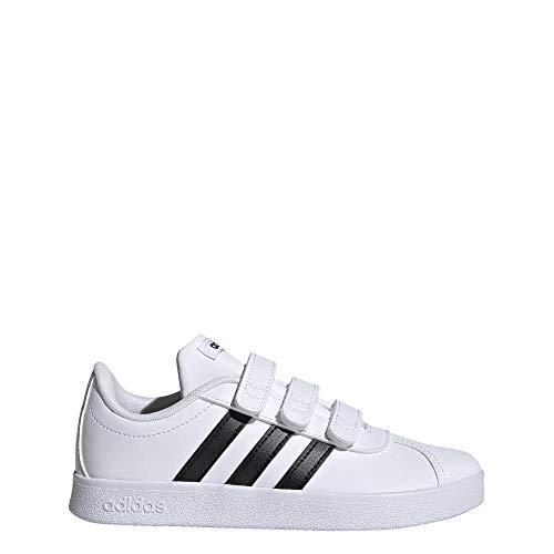 adidas VL Court 2.0 Cmf C, Scarpe da Tennis Unisex-Bambini, Bianco (Ftwwht/Cblack/Ftwwht...