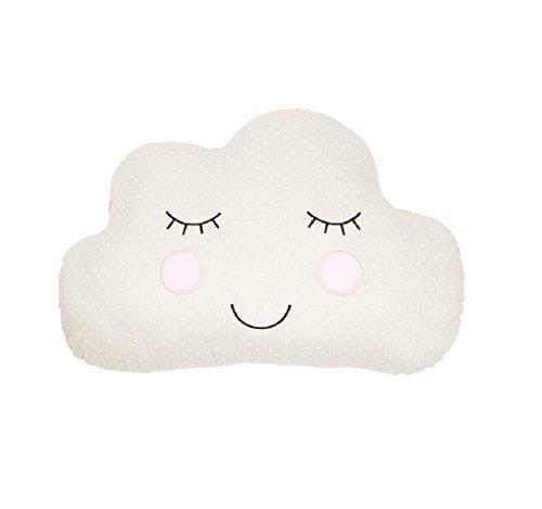 Sass & Belle Cuscino per stanza dei bambini o per asilo nido (motivo faccia di nuvola,...