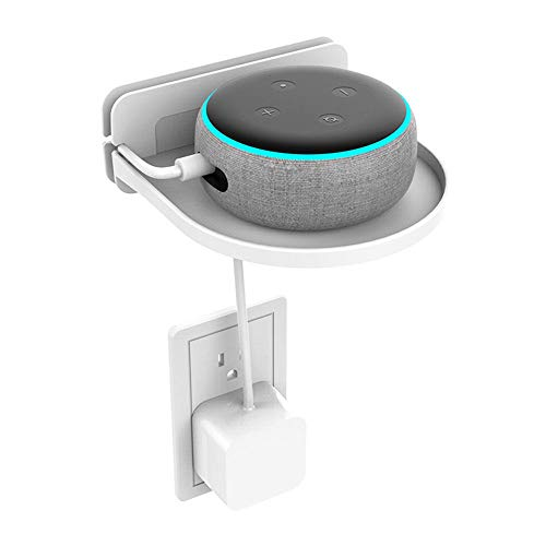 Volwco Outlet, Amazon Echo Dot Holder da parete con organizer per cavi, per bagno e camera...