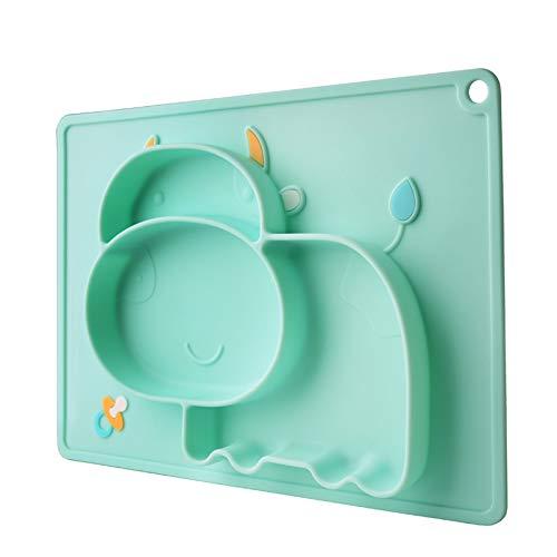 xunlei Stoviglie per Bambini Bambini Cibo Alimentazione Contenitore Placemat Baby Plate...