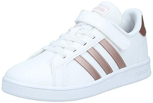 adidas Grand Court, Scarpe da Tennis Unisex-Bambini, Bianco (Cloud White/Copper Met./Light...