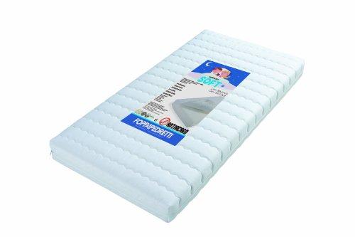 Foppapedretti Soft - Materasso per lettino, Rivestimento in cotone 100% sfoderabile e...