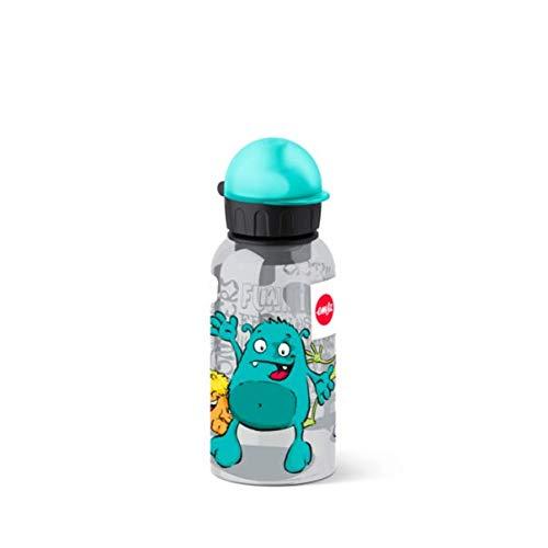 Emsa 518123 Kids Tritan Bottiglia, Tappo-Beccuccio, Decorazione Monster, bambù,...