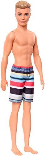 Barbie- Ken Beach Bambola Costume a Righe Giocattolo per Bambini 3+ Anni, GHW43