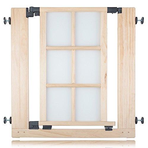 Safetots Classic - Cancello per scale, in legno, da 74 a 81 cm, colore: Naturale