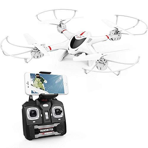DBPOWER Drone con Telecamera, X400W FPV Quadricottero Wi-Fi per Video dal Vivo, Headless...