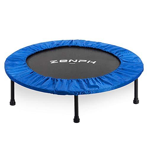 Zenph Mini Trampolino Elastico Fitness,Trampolino Pieghevole, Coprigambe per Protezione...