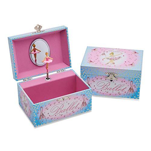 Lucy Locket Portagioie ballerina (portagioie, carillon musicale, scatola regalo per...