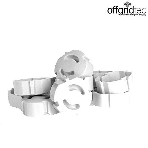 Offgridtec 007310 Tappo disicurezza bambini per prese, collegabile, 12pezzi, bianco