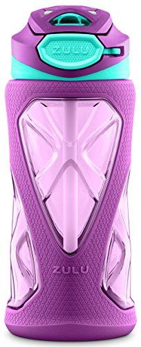 ZULU Torque Kids Water Bottle con in Paglia, 340,2Gram, Purple