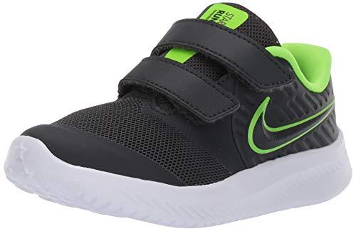 Nike Star Runner 2 (TDV), Sneaker Unisex Bimbo, Nero (Anthracite/Electric Green/White...