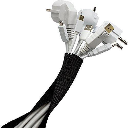 Purovi® Guaina per cavi con chiusura a strappo | Lunghezza 1.80 m (adattabile) |...