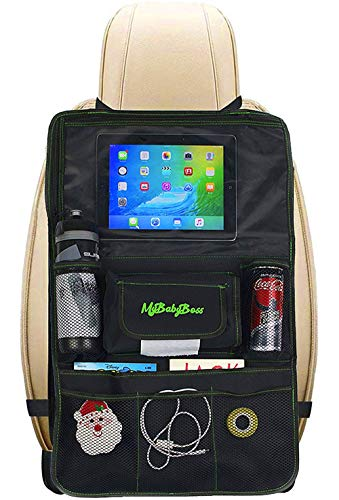 MyBabyBoss | Protezione Sedile Auto Bambini, Organizer per Auto, Supporto per Tablet,...