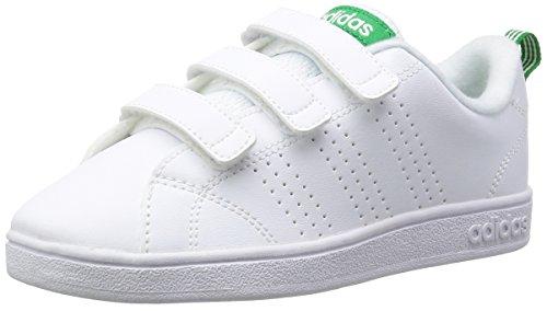 adidas Vs ADV Cl Cmf C, Scarpe da Fitness Unisex-Bambini, Bianco (Ftwwht/Ftwwht/Green...