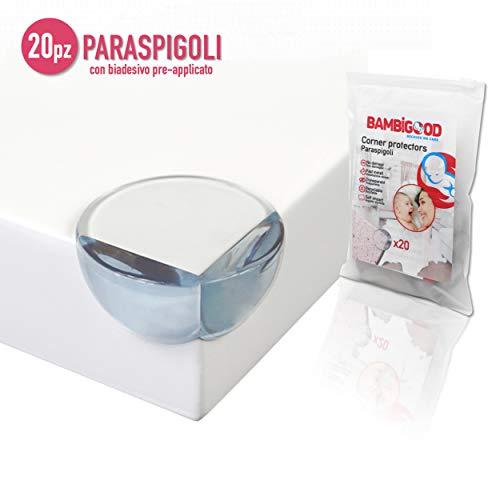 Bambigood® Paraspigoli Bambini Trasparente Morbido con adesivo preinstallato per...