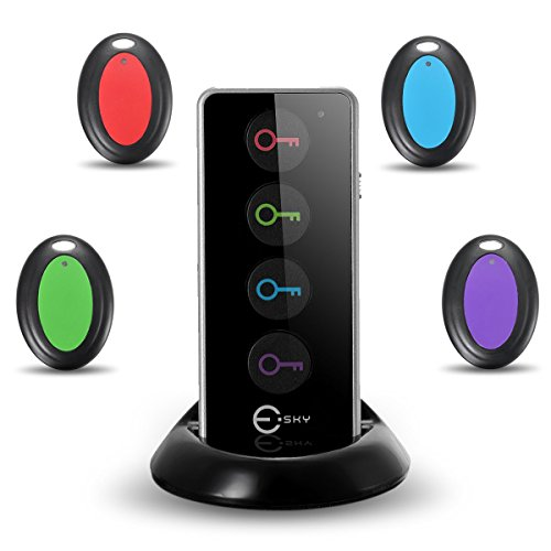 Esky ES-KF02 RF Localizzatore Oggetto Controllo Remoto Cerca Chiavi Key Finder Tracker con...