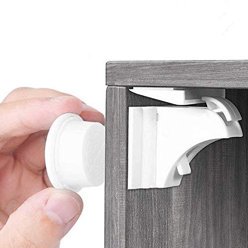 BALFER® Serratura del Cassetti Magnetico di Sicurezza per Bambini (10 Serrature + 2...