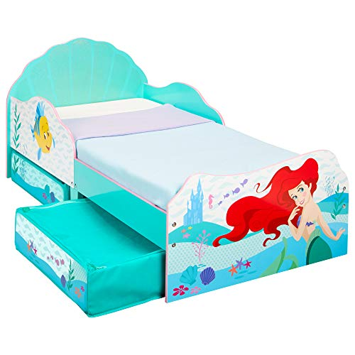 Disney Principesse Ariel-Lettino per Bambini con Contenitore sottoletto, Doppio