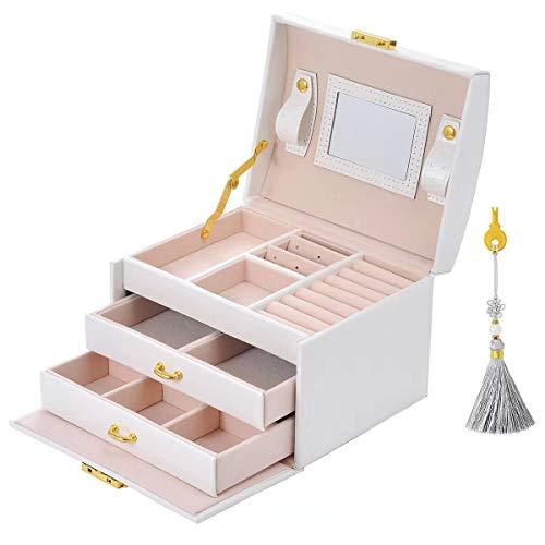 Scatola di Gioielli Set Scatola Porta Gioielli Beauty Case di immagazzinaggio di...