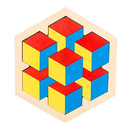 Afufu Tangram in Legno, Montessori Giochi IQ Gioco, Giocattoli Educativi Puzzle Tetris,...