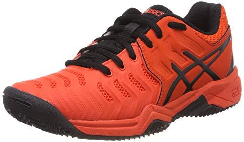 ASICS Gel-Resolution 7 Clay, Scarpe da Tennis Unisex Bambini, Rosso (Cherry Tomato/Black...