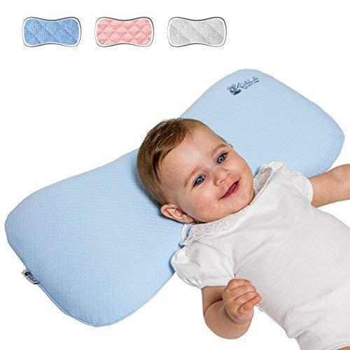 Koala Babycare® Cuscino Neonato Plagiocefalia 0-36 Mesi Sfoderabile (con due Federe) per...