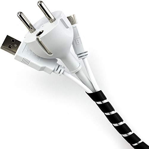 Purovi® RACCOGLI CAVI SPIRALATO nero ideale per raggruppare cavi elettrici | Lunghezza 10...