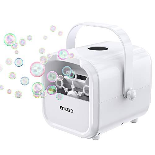 ENKEEO Macchina per Bolle Professionale, Bubble maker Portatile, Velocità Regolabile...