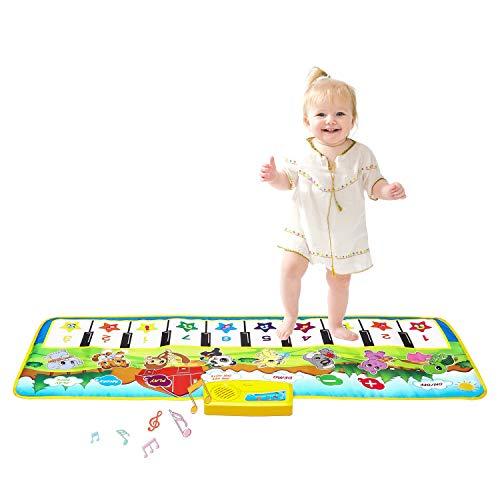 m zimoon Tappetino Pianoforte per Bambini, Tappeto Musicale Tappetini da Ballo Bambini...
