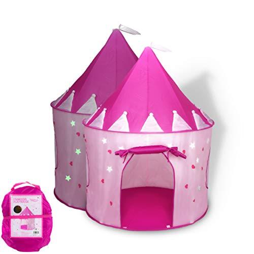 FoxPrint Tenda principessa castello gioca con Glow In The Dark Stars, convenientemente si...