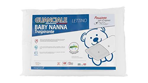 Baby Nanna lettino cuscino neonato in cotone, 100% Italiano, ipoallergenico. Cuscino...