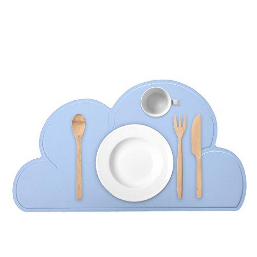 Guzack Baby Tovaglietta, Nube forma, antiscivolo Food Grade Silicone Pad Tabella Place Mat...