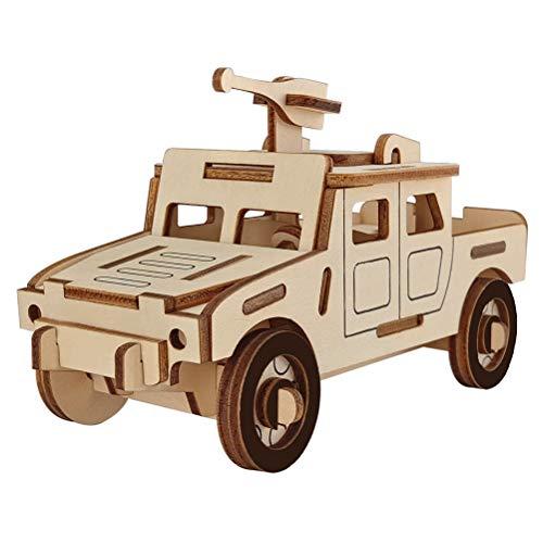 SUPVOX Car Puzzle 3D Wooden Jeep Toy per Bambini Regali di Compleanno