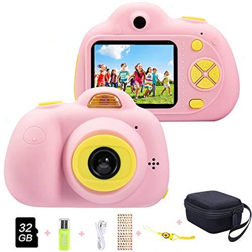ToyZoom Macchina Fotografica per Bambini, Bambina Fotocamera Digitale Portatile Selfie...