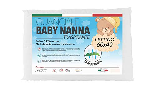 Baby Nanna cuscino neonato, 100% Italiano, cuscino per bambini. Cuscino antisoffoco...