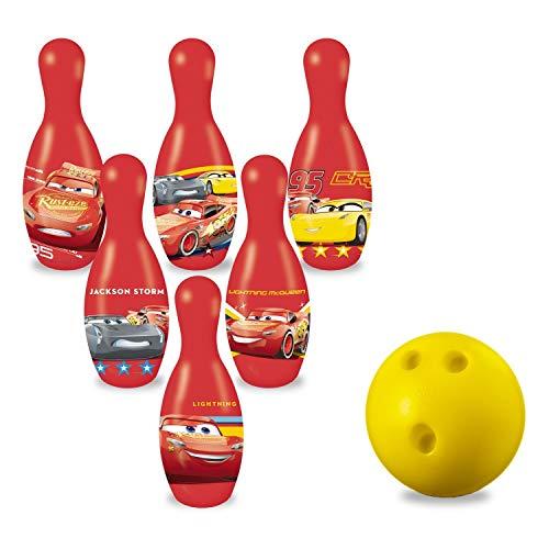 Mondo Toys - Set da Bowling Cars 3 per bambini - INCLUDE 1 palla e 6 Birilli  tema Cars 3...