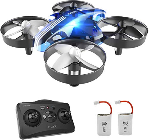 Mini Drone per Bambini RC Giocattolo Quadcopter Regalo per Principianti AT-66 Materiale...