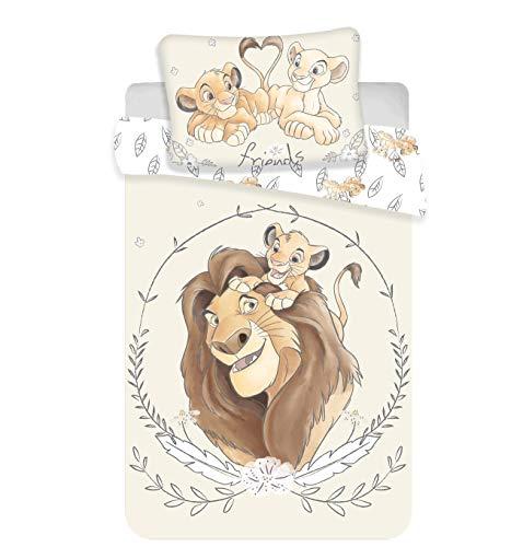 Disney, Il Re Leone, Simba e Mufasa, set di biancheria per lettino, copripiumino e federa,...