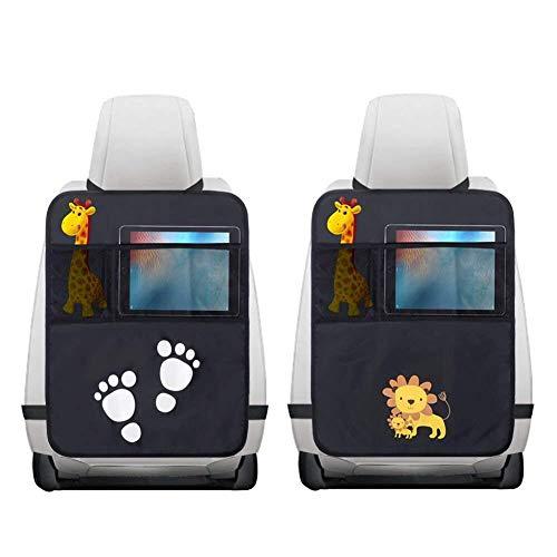 2 Pezzi Protezione Sedile Auto,Impermeabile Sedile Posteriore Auto Organizzatori 2 x Tasca...