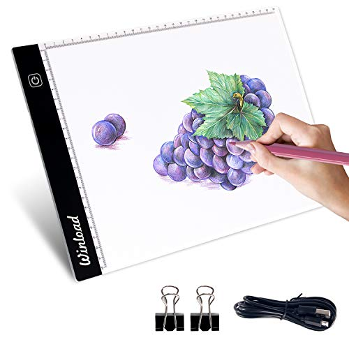 Winload A4 Tracing Light Box, A4 LED Tavoletta Luminosa regolabile per Disegno, 3,5mm...