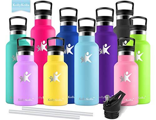 KollyKolla Bottiglia Termica per Acqua in Acciaio Inox, 600ml Senza BPA, Borraccia...