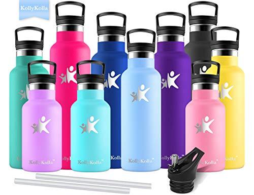 KollyKolla Bottiglia Termica per Acqua in Acciaio Inox, 500ml Senza BPA, Borraccia...