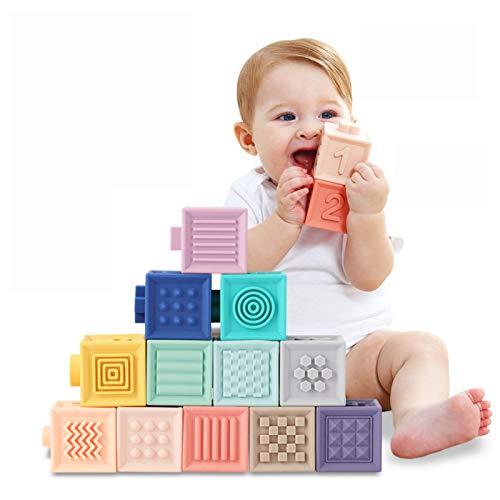 Giochi Neonato 6 Mesi Blocchi per Bambini Impilabile cubi primi neonato Dentizione...