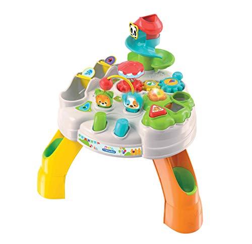 Clementoni- Baby Tavolo attività Parco degli Animali, 12+ Mesi, Multicolore, 17300
