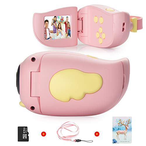 Vannico Fotocamera per bambini, schermo HD da 2,0 pollici, 8 MP, registrazione, scheda 16G...