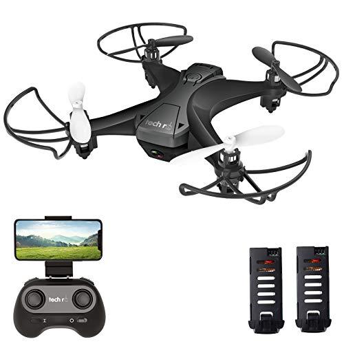 tech rc Mini Drone con Telecamera con Due Batterie Funzione di Sospensione Altitudine Un...