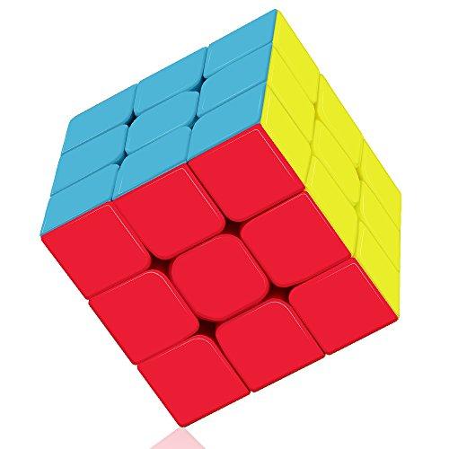 ROXENDA Speed Cube, Qiyi Warrior S 3x3 Cube Stickerless - Solido Durevole & Tornitura...