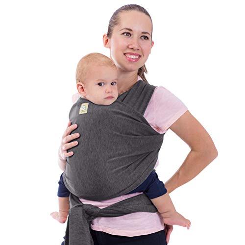 Elastico Baby Wrap All in 1 per bambini - Marsupio - Porta per neonati - Baby Wrap (grigio...