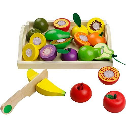jerryvon Giochi in Legno Taglio Frutta Verdura Bambini Legno Montessori Educativo...
