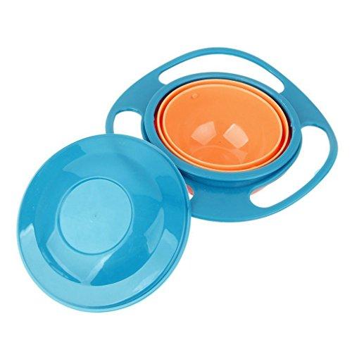Sunlera Universal Gyro Bowl Anti Spill Bowl Smooth 360 Degrees Rotation Gyroscopic Bowl...